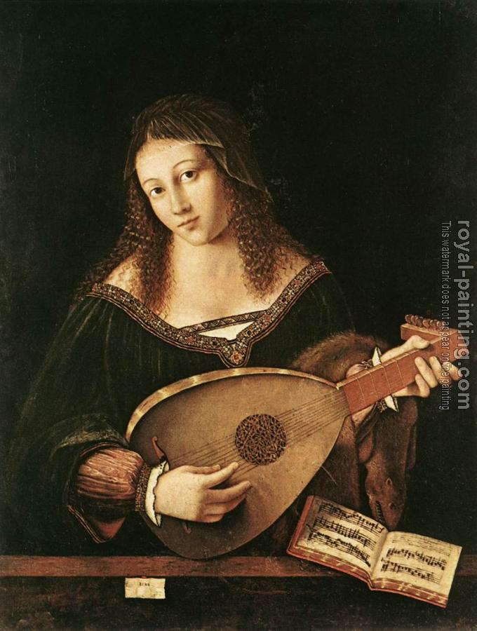 Bartolomeo Veneto : Woman Playing a Lute